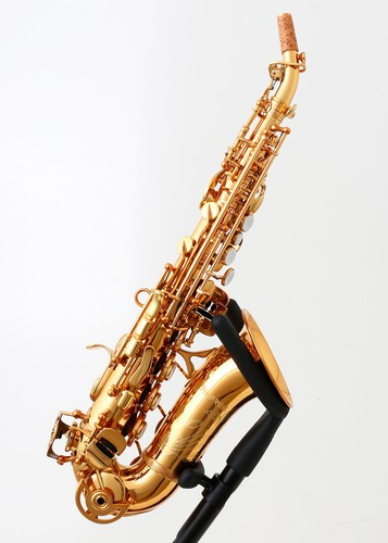 Curved Anfree soprano saxophone, gold lacquered