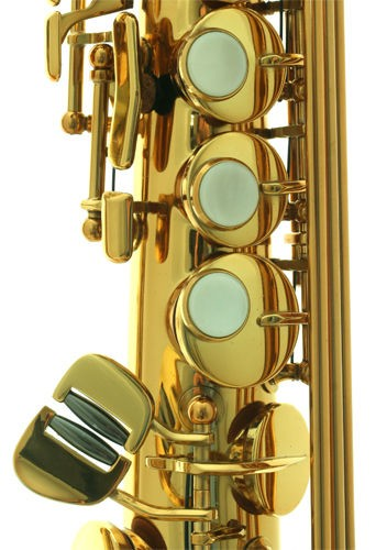 Anfree soprano saxophone, gold lacquer