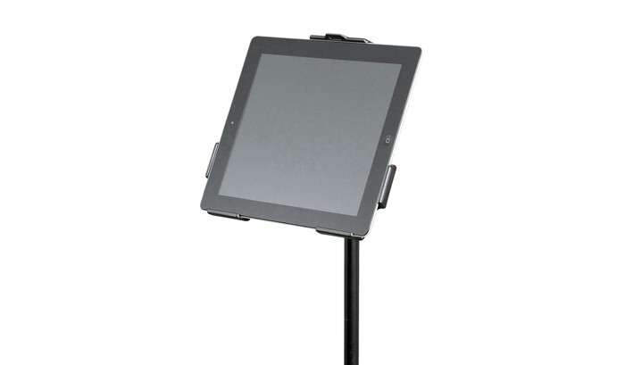 K&M iPad holder for microphone stand 19712