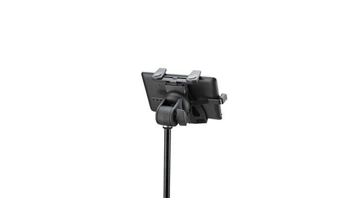 K&M adjustable tablet holder for microphone stand 19742