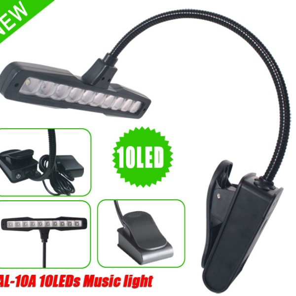i.K.Gottfried Music stand light with 10 LED bulbs