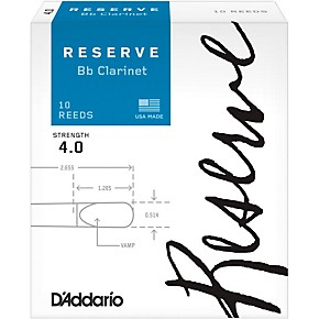 D'Addario (Rico) Reserve Bb clarinet reeds