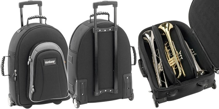 Soundwear trolly case for 3 instruments