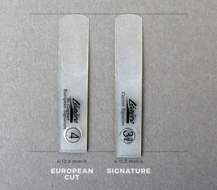 Légère European Cut Bb clarinet reed