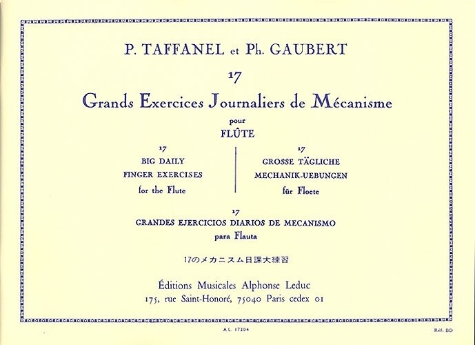 Taffanel & Gaubert, 17 Big Daily Finger Exercises