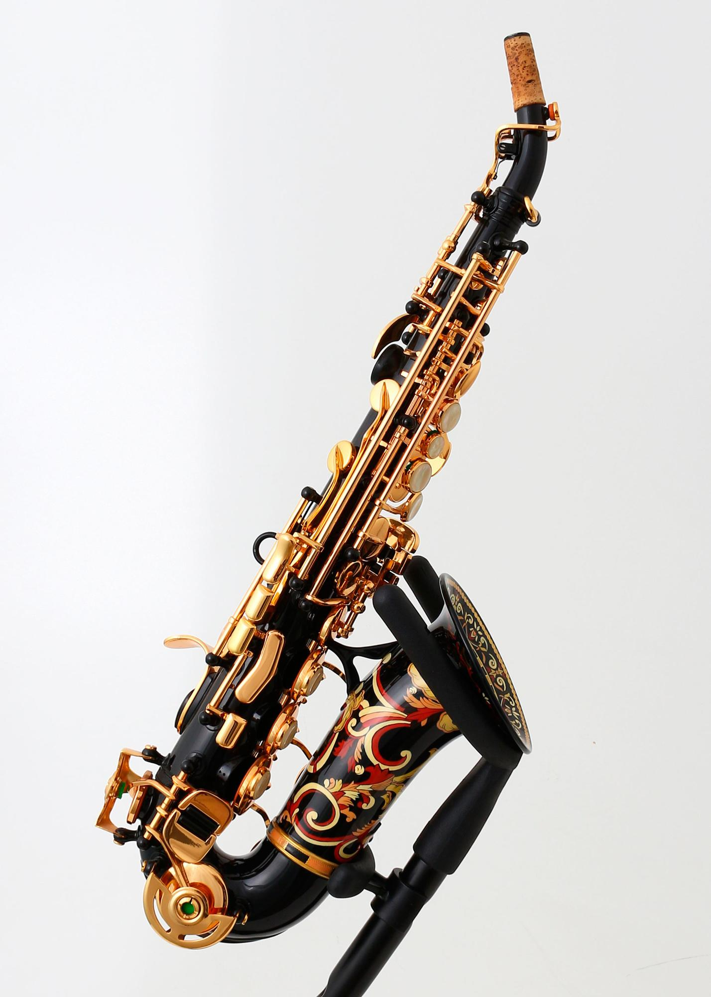 buy curved anfree soprano saxophone decorated world wide shipping. Black Bedroom Furniture Sets. Home Design Ideas
