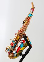 Curved Anfree soprano saxophone - decorated